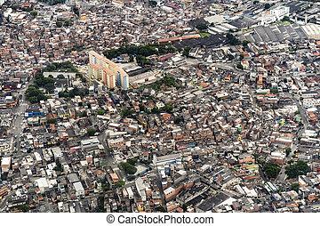 aerial of a suburb of Rio de Janeiro
