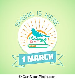 1 March - spring green - Calendar for each day on March 1....