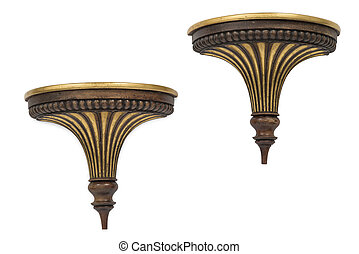 Cut Out of a Pair of Antique Sconces - Cut out of a pair of...