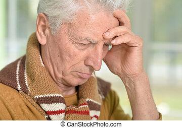 portrait of sad senior man - Portrait of a sad senior man...