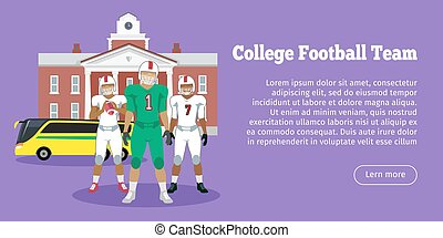Colleage Football Team. High School - Colleage football...