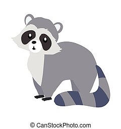 Funny Raccoon Sitting