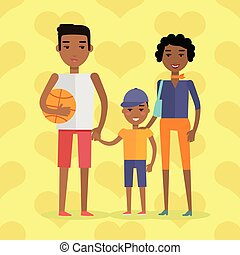 African Black People. Afro American Family - African black...