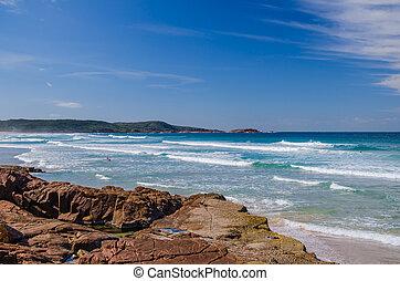 One Mile Beach, Port Stephens, Australien