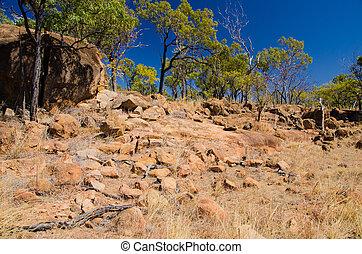 Outbackwandern, Queensland, Australien - Wanderweg durch die...