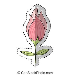 cute rose drawing icon