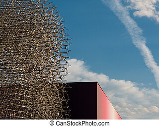 Detail of Megastructure made of Aluminium Beehive: British...