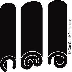 Cinnamon icon, simple style - Cinnamon icon. Simple...