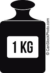 One kilogram weight pattern, simple style - One kilogram...