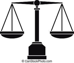 Justice scale icon, simple style