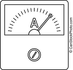 Speedometer icon, outline style - Speedometer icon. Outline...