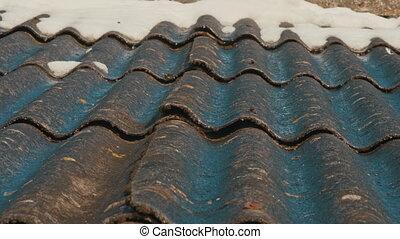 Water drains down through slate raw blackmagic ursa mini...