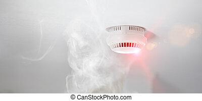 Smoke detector in apartment