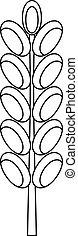 Field spike icon, outline style - Field spike icon. Outline...