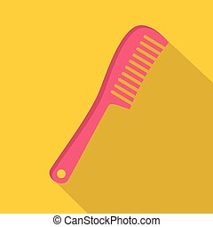 Comb icon, flat style - Comb icon. Flat illustration of comb...