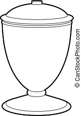 Urn icon, outline style - Urn icon. Outline illustration of...