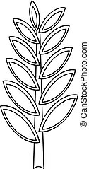 Spica icon, outline style - Spica icon. Outline illustration...