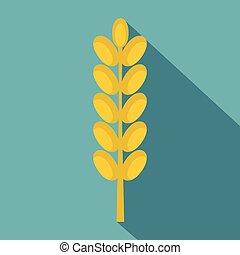 Field spike icon, flat style - Field spike icon. Flat...