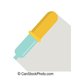 Pipette icon, flat style - Pipette icon. Flat illustration...