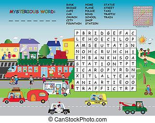 crossword - game for children: crossword for children