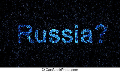 Russian hackers. Danger in the Internet. Malicious code...