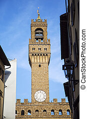 Torre del Mangia in Siena, Italy - View at Torre del Mangia...
