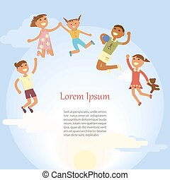 Happy Children are jumping
