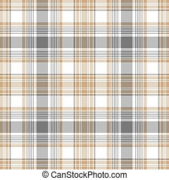 Gold gray white check fabric texture seamless pattern
