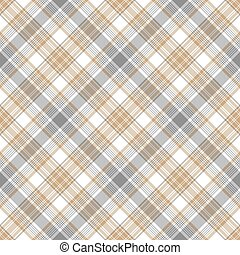 Gray beige checkered tartan seamless pattern
