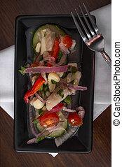Peruvian Tilapia Ceviche - Chilled spicy Peruvian ceviche...