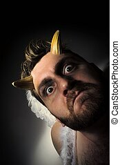 Fallen Angel Demon - Fallen angel satan with feathered wings...