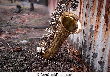Jazz Saxophone Grunge