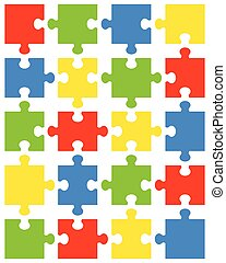 pieces of colorful puzzle