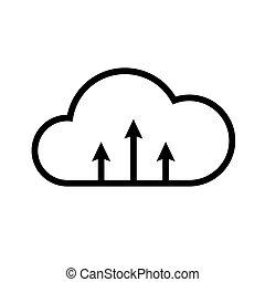 Set internet cloud icons