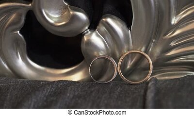 Wedding rings in room
