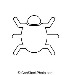 Bug system technology icon vector illustration graphic...