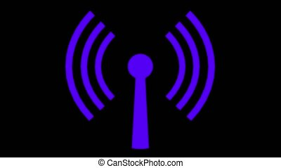 Wifi wireless internet network net web connection icon logo...