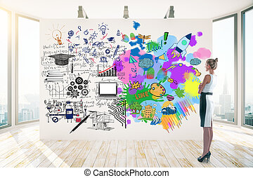 Creative and analytical thinking concept - Attractive...