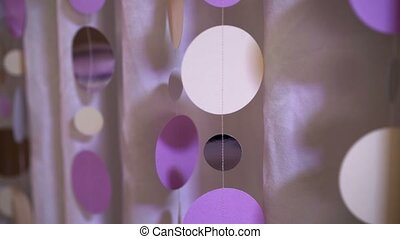 Party decoration circles closeup shot