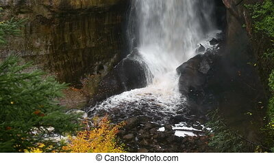 Miners Falls Splashdown - Miners Falls, a tall and powerful...