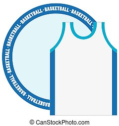 Isolated basketball emblem with a shirt, Vector illustration