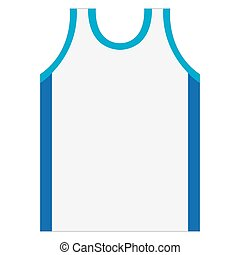 Isolated basketball shirt on a white background, Vector...