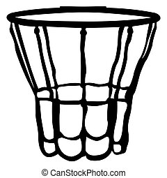 Isolated basketball net on a white background, Vector...