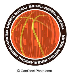 Isolated basketball emblem on a white background, Vector...