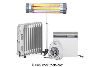 Heating devices. Convection, fan, oil-filled and infrared...