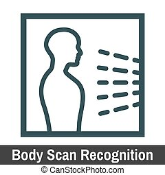 Biometric Scanning Graphic - Body Scan Recognition