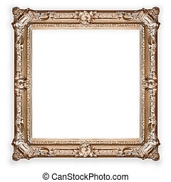 antique ,gold frame isolated