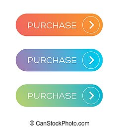 Purchase web button set vector