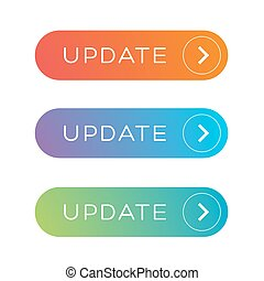 Update Web button set - Update Web button vector set