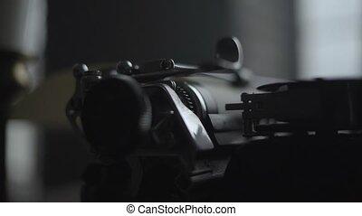 an old typewriter close up.